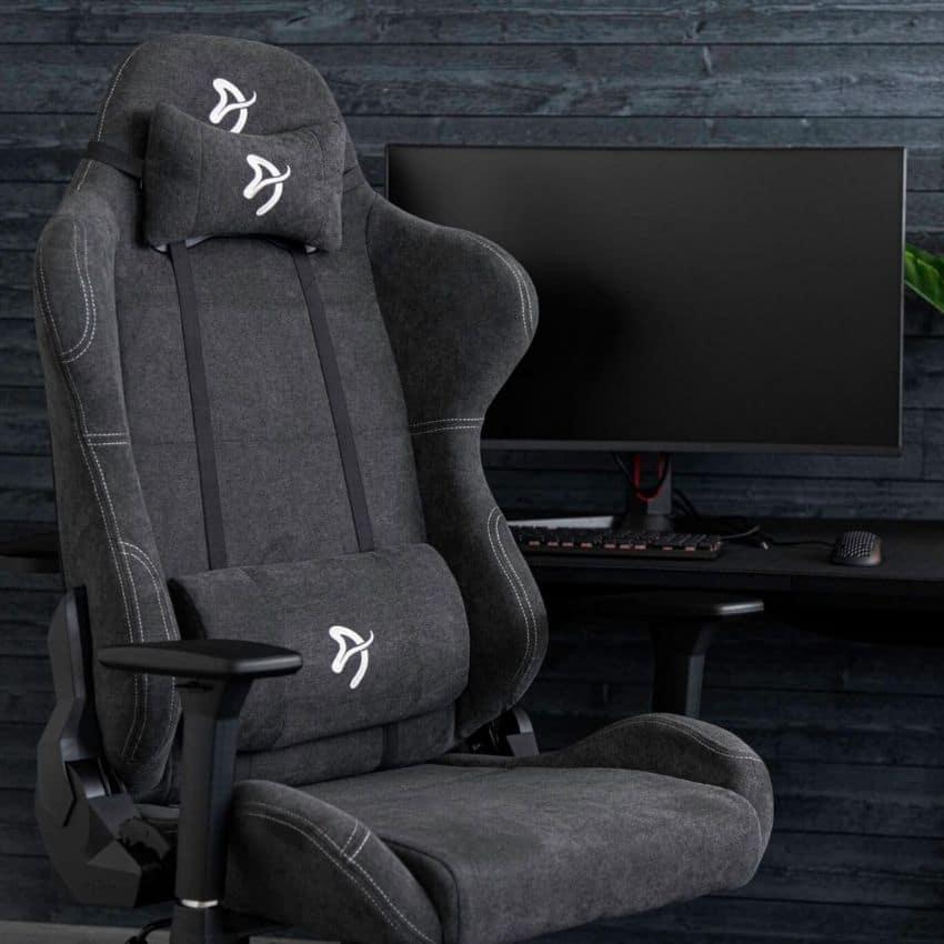 Grå gamer stol