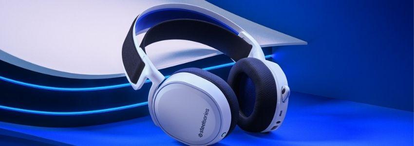 Hvidt gaming headset